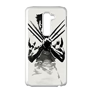 LG G2 Cell Phone Case White Wolverine GOS Plastic Hard Cell Phone Case