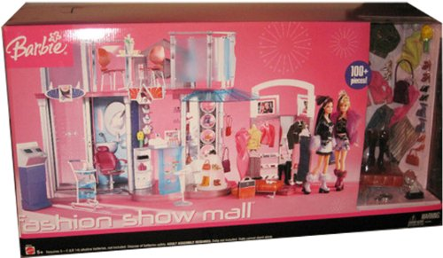 Barbie FASHION SHOW SHOPPING MALL 100+ Piece Huge PLAYSET with Lights & - Show The Fashion Mall