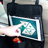 Car Backseat Organizer Kick Mat Seatback Protector iPad Tablet Holder,Touch Screen Pocket for Tablets up to 9.5″ Wide with Storage Bag for Baby Kids Diaper Wipes Toys Snacks Travel Accessories