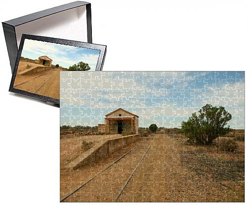 252 Piece Puzzle of Derelict railway station in Australian Outback (10826042) Australian Rails