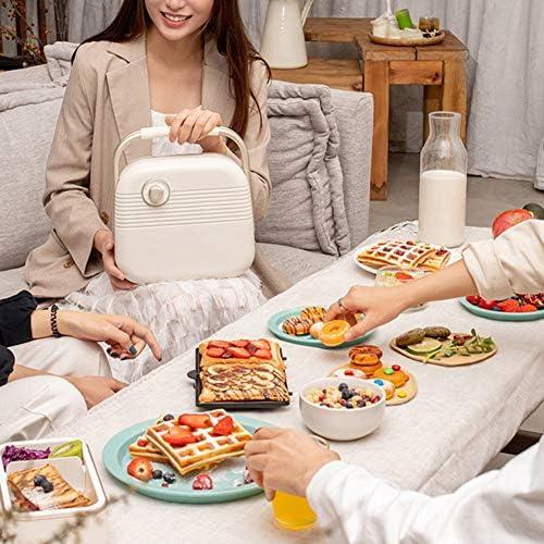 900W Sandwich Broodrooster, Panini Maker met Afneembare Antiaanbakplaten Steak Hamburger Ontbijtmachine