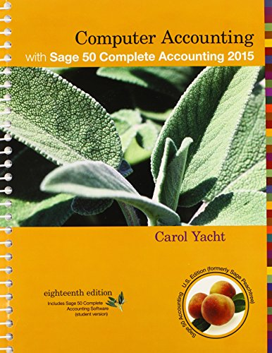 Computer Accounting with Sage 50 Complete Accounting Student CD ROM
