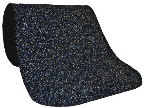 M+A Matting 444 Blue Nitrile Rubber Hog Heaven Confetti Anti-Fatigue Mat with Black Border, 5' Length x 3' Width x 7/8