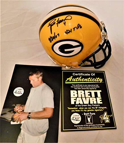 Brett Helmet Favre (BRETT FAVRE Signed/Autographed Authentic Packers Mini Helmet Inscribed Favre Holo COA)