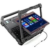 Dell Rugged Extreme 7214 HD 2 in 1 Laptop NoteBook Touch Screen Convertible Tablet (Intel Quad Core i5-6300U, 8GB Ram, 256GB SSD, HDMI, Camera, SC Card Reader) Win 10 Pro (Certified Refurbished)