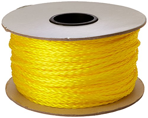 - CORDAGE SOURCE Braided Poly Rope, 1/4-Inch by 500-Feet, Yellow