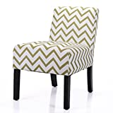 Tobbi Leisure Armless Accent Chair Sofa Single Couch Seat Wood Legs Home Living Room