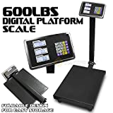 600LBS Digital Floor Platform Scale Weight Computing Postal Office Food Industry Shipping Warehouse Mailing Pet Weighing LCD Display Indoor Outdoor Use