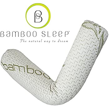Amazon Com Premium Bamboo Bolster Pillow For Bed
