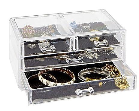 Amazoncom Simplify Acrylic 3 Tier Cosmetic And jewelry Organizer