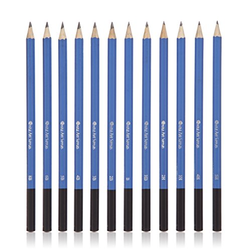 Large Product Image of Castle Art Supplies Graphite Drawing Pencils and Sketch Set (40-Piece Kit), Complete Artist Kit Includes Charcoals, Pastels and Zippered Carry Case, Includes Rare Pop-Up Stand