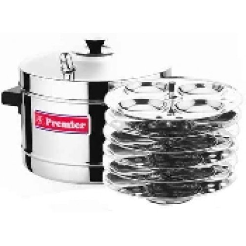 Stainless Steel Premier Idli Maker with 6 Ss Idli Racks