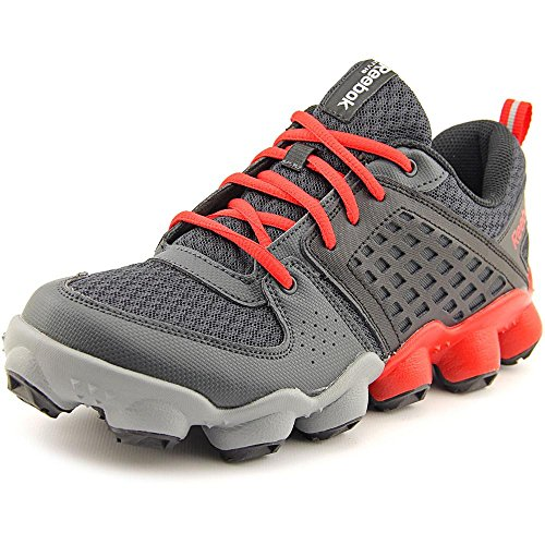 Reebok ATV19 Ultimate II GS Running Shoe (Big Kid),Gravel/Red Rush/Flat Grey/Flat Grey/Black,3.5 M US Big Kid Faster Mid Trail Shoes