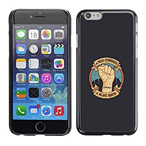 CASEX Cases / Apple Iphone 6 / A Man Chooses - A Slave Obeys # / Delgado Negro Plástico caso cubierta Shell Armor Funda Case Cover Slim Armor Defender