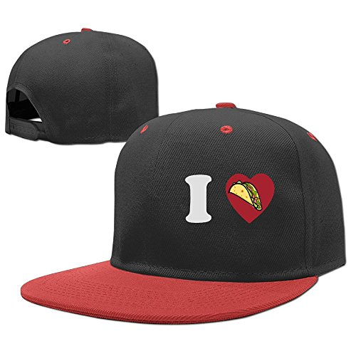 YELOFISH Kids' Hip Hop Baseball Caps I Love Taco Snapback Hats