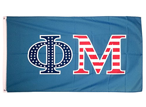Desert Cactus Phi Mu USA Letter Sorority Flag Greek Letter Use as a Banner Large 3 x 5 Feet Sign Decor