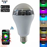 Cheap Nulink™ Smart RGB Multicolored E26 / E27 Dimmable LED Light Bulb Build in Bluetooth Speaker Remote Control By iOS & Android Devices App