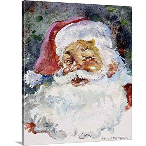 Santa Wall Claus (Hal Frenck Premium Thick-Wrap Canvas Wall Art Print entitled Santa Face 20