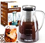 Product review for ONE DAY SALE- Cold Brew Coffee Maker and Iced Tea maker (32 oz) - 1 Quart Premium Brewing Glass Pitcher with Removable Stainless Steel Filter and No-Slip Base - Use with Coffee Beans By TenChef's !