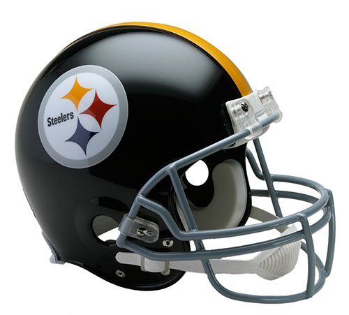 Helmet Pittsburgh Throwback Steelers (Pittsburgh Steelers 1963-1976 Throwback Riddell Full Size Authentic NFL Proline Football Helmet - New in Riddell Box)