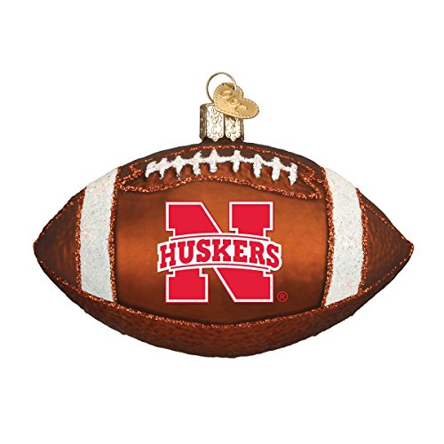 Old World Christmas Nebraska Football Glass Blown Ornament ()