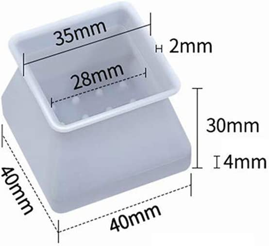 Square Silicon Furniture Leg Protection Cover Table Feet Pad Floor Protector Soft Chair Feet Protection Caps 32 pcs