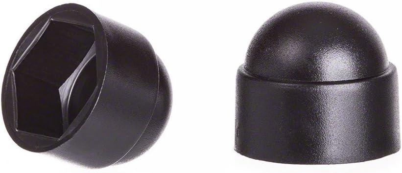 cache-/écrous 5 noir Cache-vis Bouche-trou Bouchons de tuyau 10 pcs