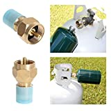 Whitelotous 2PCS Propane Refill Adapter Lp Gas Cylinder Tank Tank Refill Adapter Coupler Heater Camping