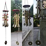 Wind Chimes, Kemilove Brassiness Wind Chime 4 Tube Metal Windbell Money Drawing Wind Chime