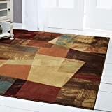 Area Rugs Modern Abstract Multi-Color 6×8 Geometric Contemporary – Actual Size 5 '3″ x 7' 2″ For Sale