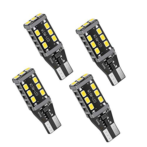 4Pcs 912 921 LED High-Power Lossless Backup Light Bulbs with 2835 15-SMD Chipsets T15 906 W16W Back Up Lights bulbs, 6000K Xenon White