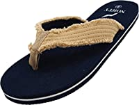 NORTY - Men's Lightweight Thong Flip Flop Sandal for Everyday, Beach or Pool - Runs 1/2 Size Small