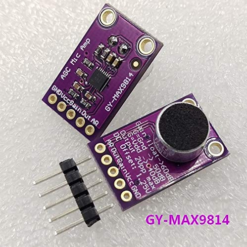 BeediY 5PCS//LOT Electret Microphone Amplifier Stable MAX9814 Module Auto Gain Control for Arduino