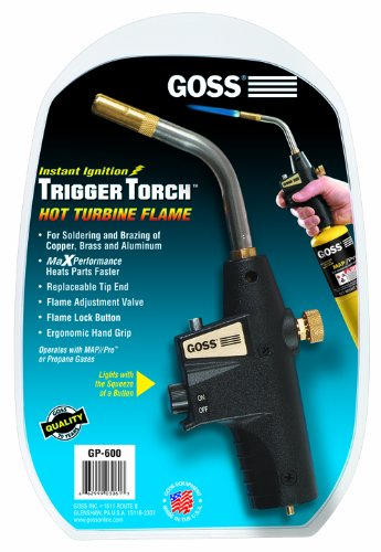 Goss GP-600 Self-Igniting Hand Torch for Disposable Cylinders