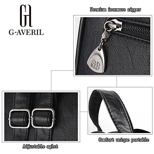 G-AVERIL GA1023-G - Bolso mochila  para mujer gris gris rojo vino