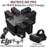 DJI TB47S Battery Bundle for Matrice 600 PRO Quadcopter. Includes 6 TB47S Batteries, HEX Intelligent Flight Battery Charger, CP.SB.000297 (Charge 6 Batteries & two Remotes Simultaneously) and more...