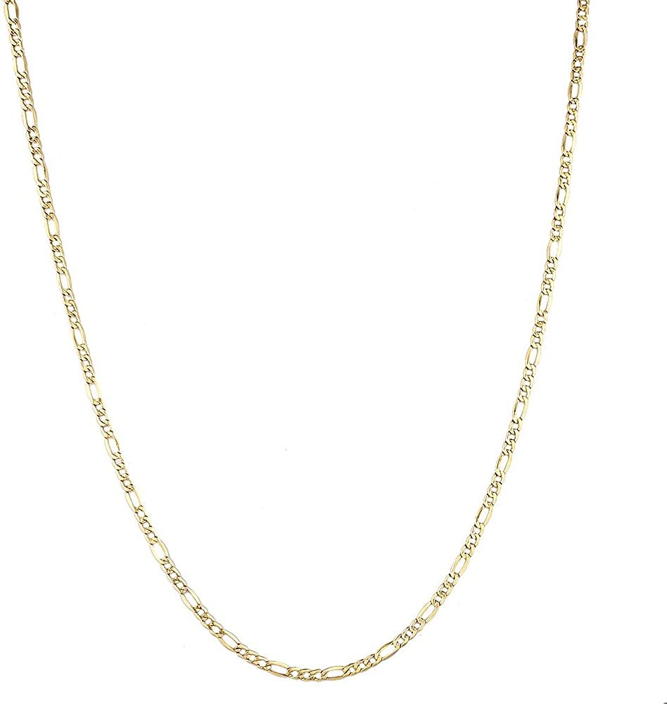 Brilliant Bijou 14k Yellow Gold 1.3mm Solid D//C Machine-Made with Lobster Rope Chain Bracelet