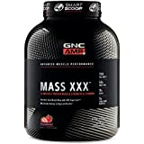 GNC AMP Amplified Mass XXX, Strawberry, 6.2 lbs, Supports Muscle Protein Synthesis