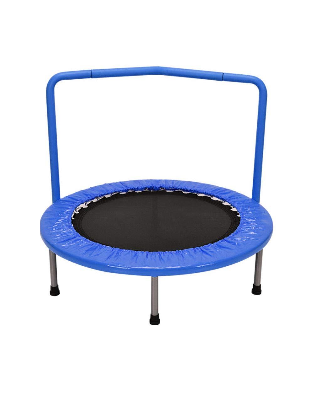 屋内安全ミニエッジデザイン厚鋼管子供用トランポリン、子供用スポーツ、60KGに耐えることができます、36インチ、ラウンド (色 (色 : Pink) B07MFDSK9B 青 : 青 青, ニューヨークからの贈り物:e4140063 --- krianta.com