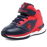 U-MAC Boys' Grade School Velcro Low Basketball Shoes Athletic Training Shoes (Little Kid/Big Kid)