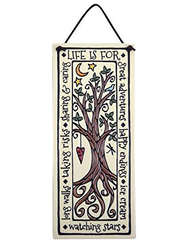 Tree of Life Inspirational American Made Ceramic Quote Plaque, - Tile Ceramic American
