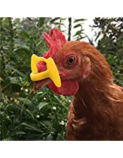 30 Pcs Upgrade Embolus Free Chicken Eyes Glasses Plastic Poultry Eyes Peeper Glasses Spectacles Pheasant Protector Hen Pecking Prevention for Poultry(Yellow