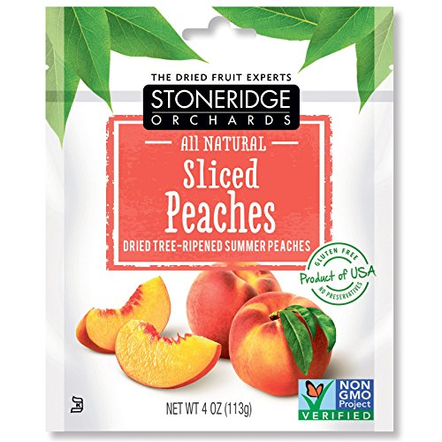 Stoneridge Orchards  Sliced Peaches  Dried Tree Ripened Summer Peaches  4 Oz  113 G  Pack 1