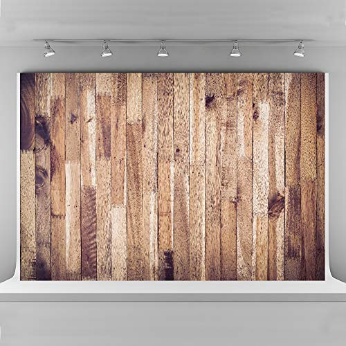 (10x6.5ft Photography Backdrops Wood Brown Plank Texture Background Seamless Cotton Cloth Photo Booth Backdrop Photographic Studio Props)