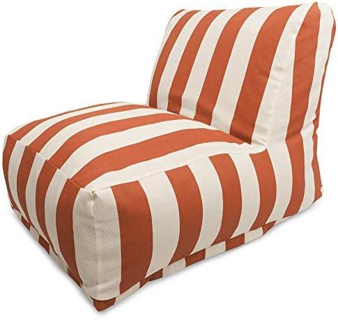Deal of the week: Majestic Home Goods Burnt Orange Vertical Strip Bean Bag Chair Lounger