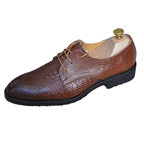 Uomo Da D'affari In YXLONG Scarpe In Scarpe Stringate Uomo Uomo Moda Di Vestito Pelle brown pelle Da Da Nuovi Modello Scarpe Di Coccodrillo FqXXZat