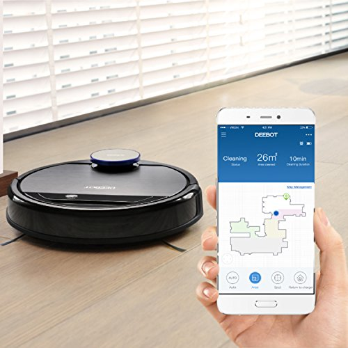 ECOVACS DEEBOT OZMO 930, Smart Carpet, Bare Floors, Hair, with Intelligent Mapping, Floor Technology, and Compatible with