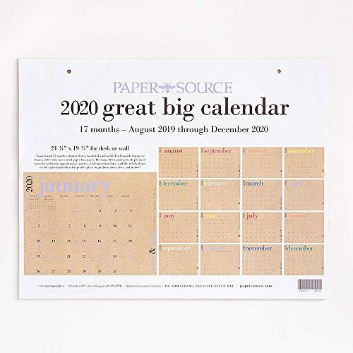 2020 Great Big Calendar (Paper Source Wall Calendar)