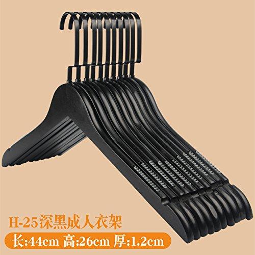 Kexinfan Hanger Dark Black Solid Wood Hanger Clothing Store