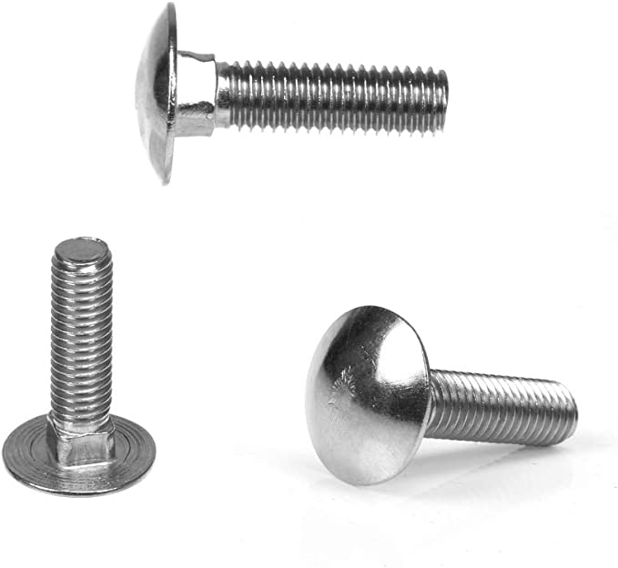 M6 x 30mm COACH CARRIAGE BOLTS CUP SQUARE BOLTS WITH HEX NUTS BZP DIN 603//555